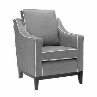 Burley Medium Cushion Back Armchair with Show Wood Base